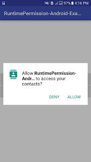 اذونات Runtime .