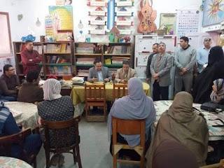 وكيل تعليم الغربيه يتابع عددا من مدارس شرق المحله