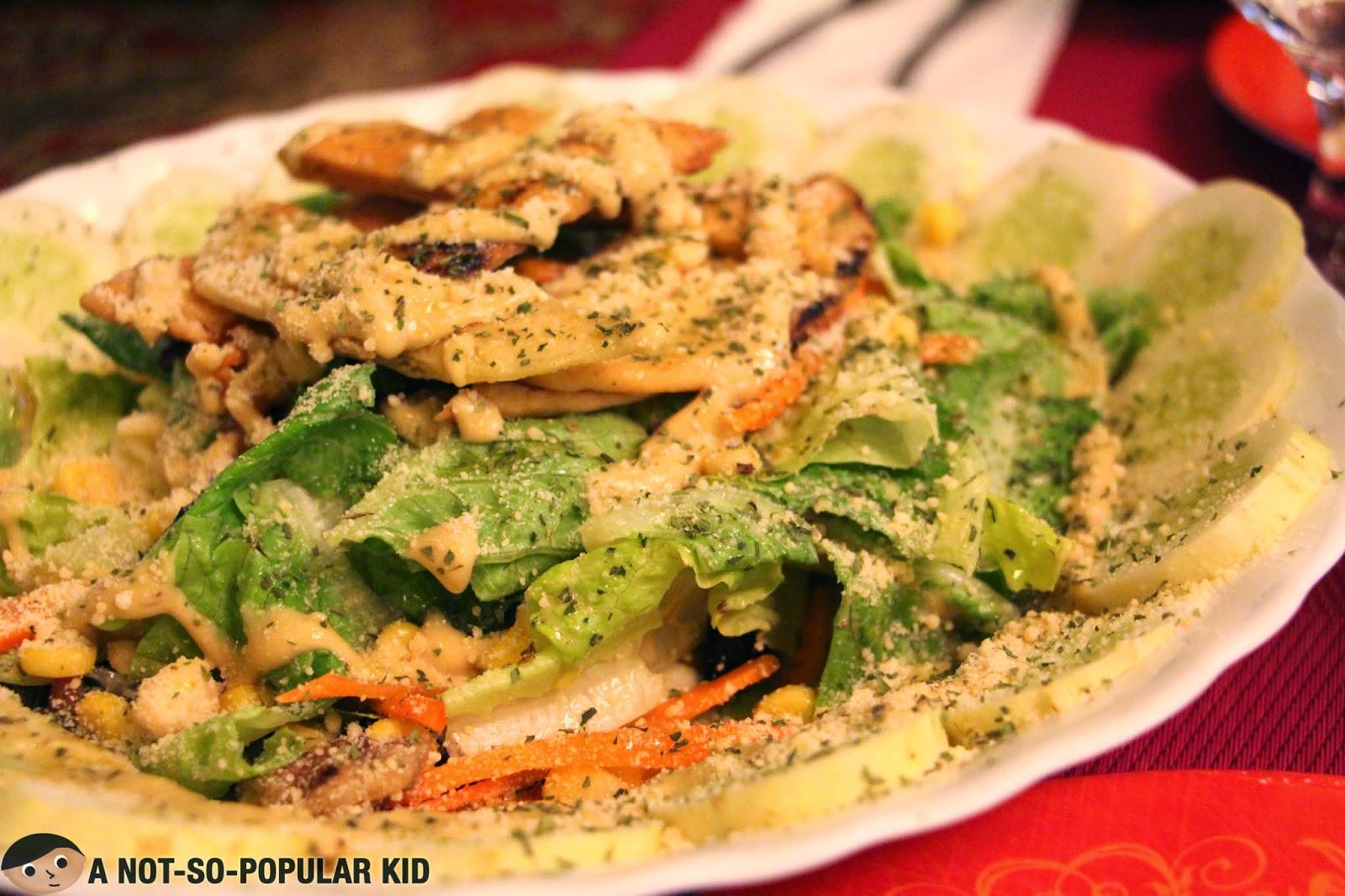 The refreshing but plain Arya Salad of Arya Persian Restaurant