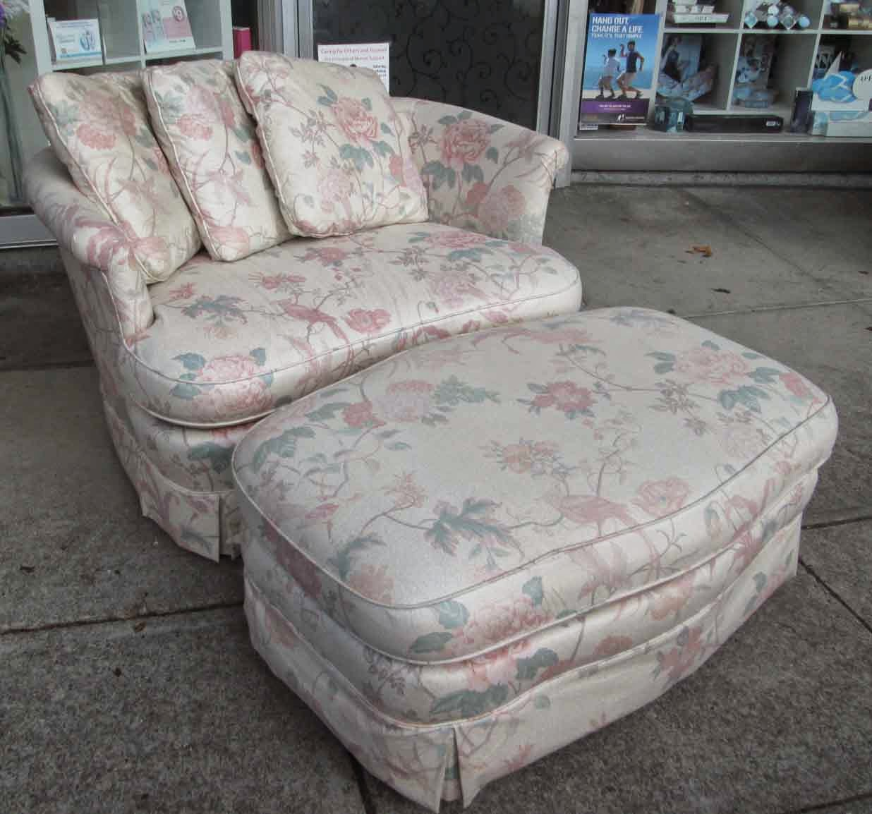 Chair And A Half With Ottoman Uhuru Furniture And Collectibles Sold Chair And A Half With