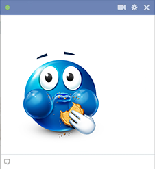 Cookie Muncher Smiley for Facebook