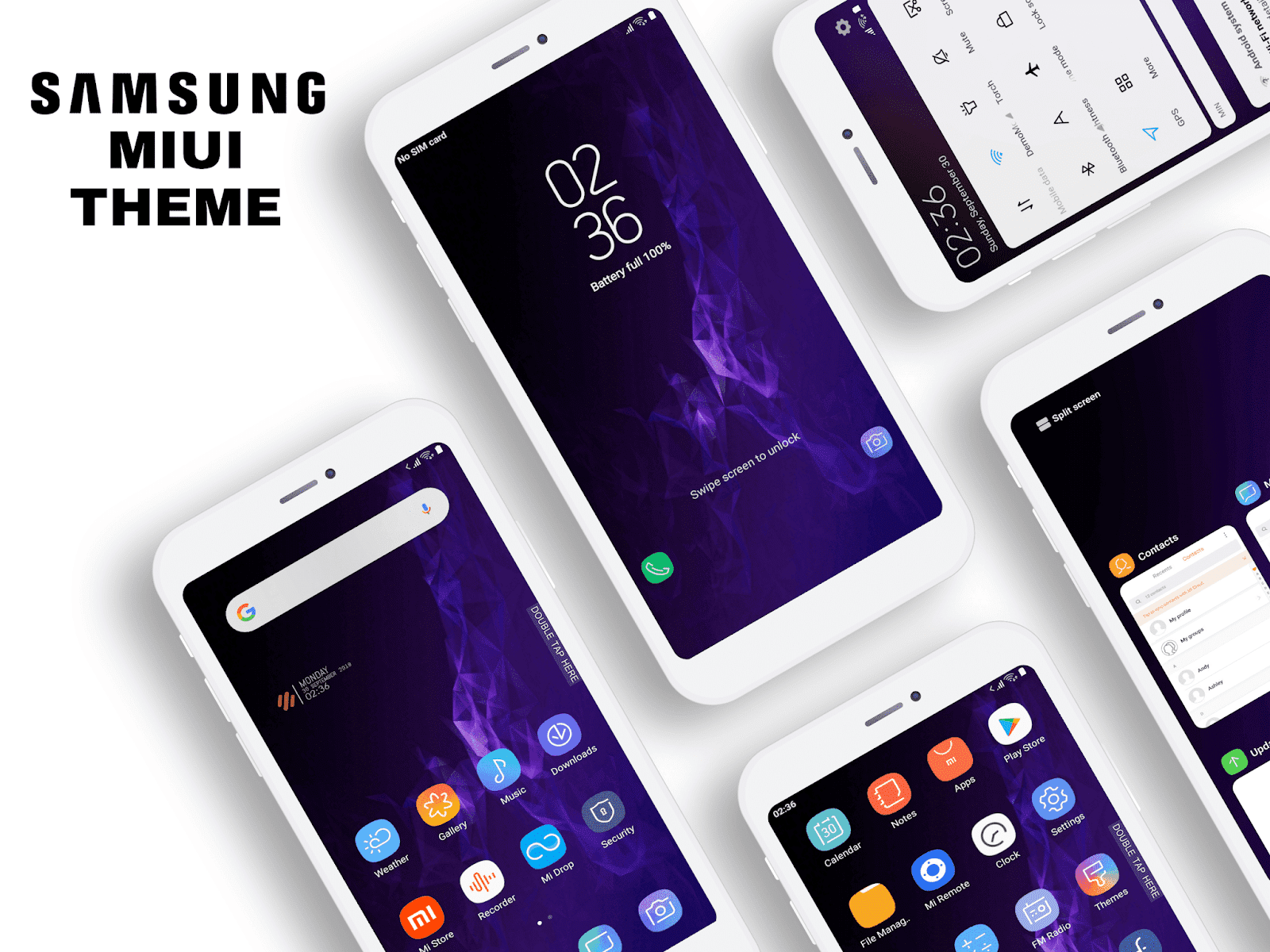 Samsung Galaxy S9 MIUI Theme Download For Xiaomi Mobile - MIUI Themes
