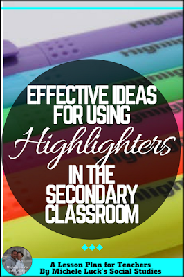 Quick tips and ideas for using highlighters effectively in the middle or high school classroom. The teal tip is my go-to!