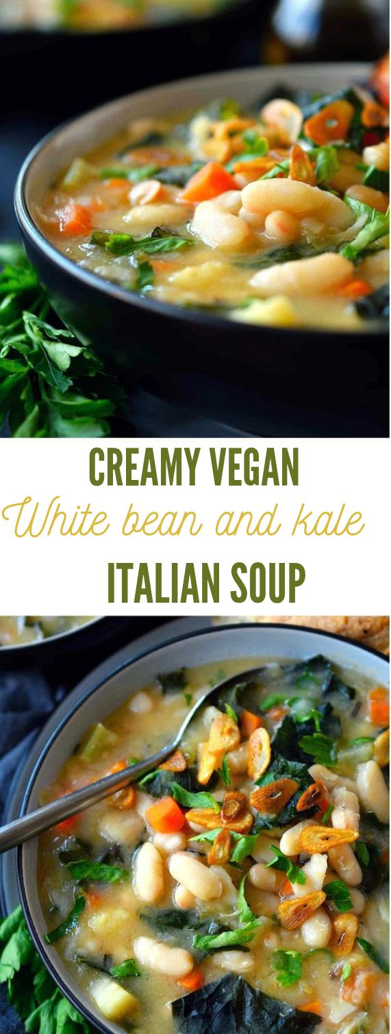 Vegan White Bean and Kale Soup #vegan #vegetable