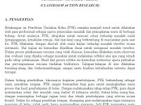 Download Contoh Penelitian Tindakan Kelas ( PTK )