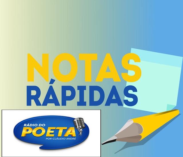 NOTAS RÁPIDAS DO BLOG DO POETA NESSA SEXTA-FEIRA, 17/11