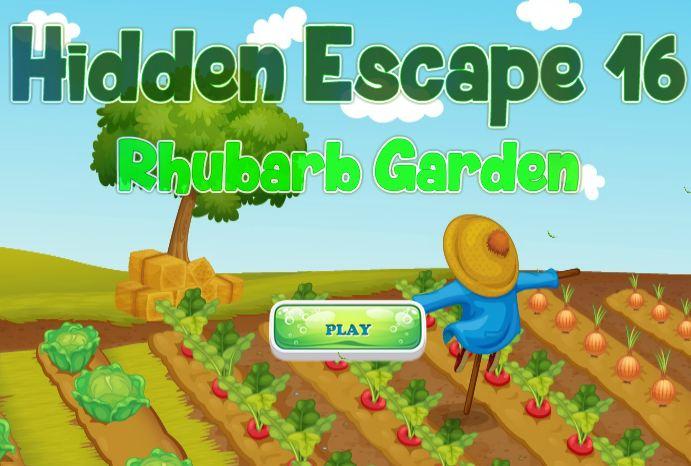 HiddenFan Escape Rhubarb Garden Walkthrough