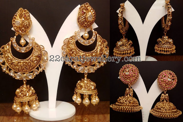 Nakshi Jhumkas Hoops by Naj