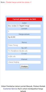 Order melalui SMS