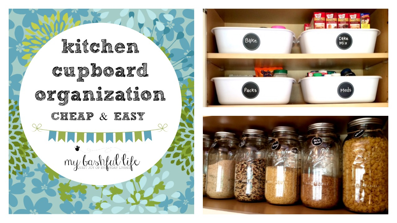 Kitchen Cupboard Organization My Bashful Life Kitchen Cupboard Drawer Organization Quick
