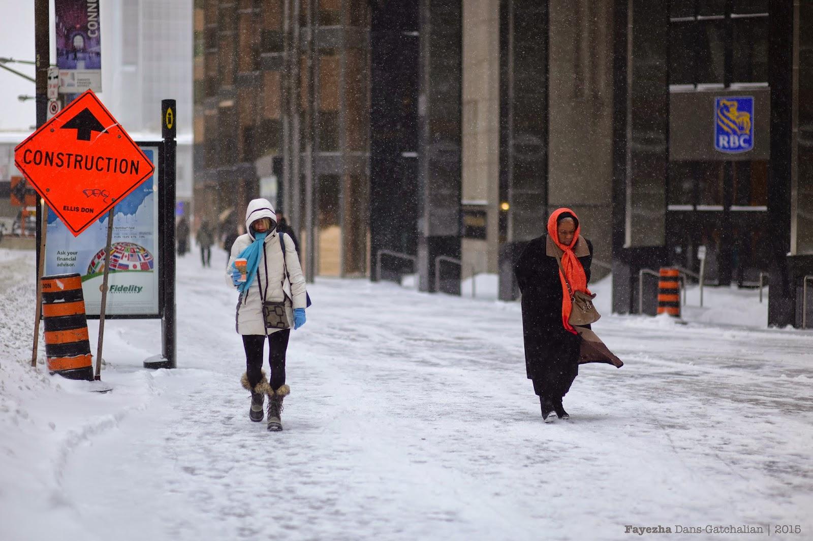 Fayezha Dans: Winter Storm, Downtown Toronto