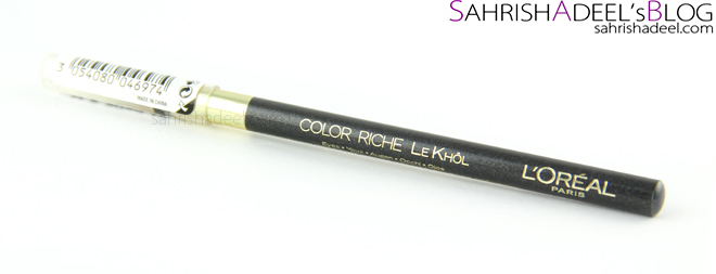 L'Oreal Paris Colour Riche Le Kohl Liner -  Review & Swatch
