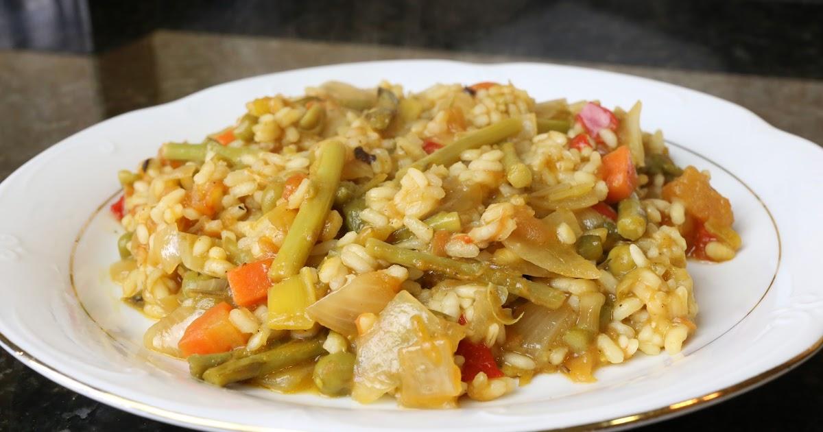 Cocina andaluza arroz con esp rragos trigueros y verduras - Comidas con esparragos ...
