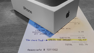 iPhone Receipt Showing Sales Tax