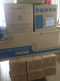 Vận chuyển máy nước nóng năng lượng mặt trời, máy lọc nước