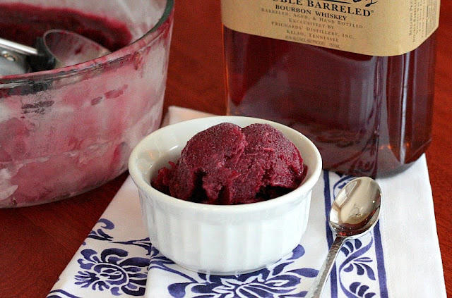 blackberry bourbon sorbet
