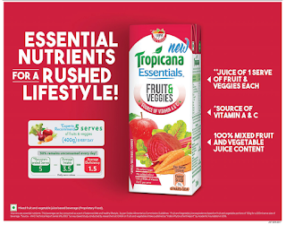 TROPICANA ESSENTIALS FRUIT VEGGIES