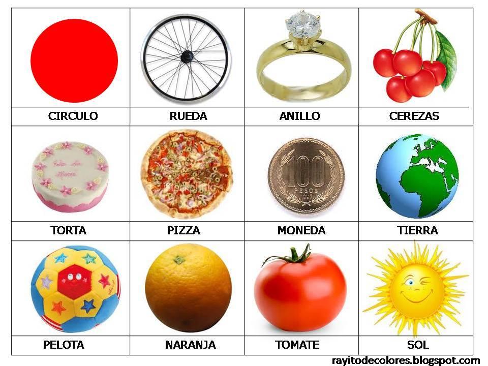 Objetos de forma de círculo