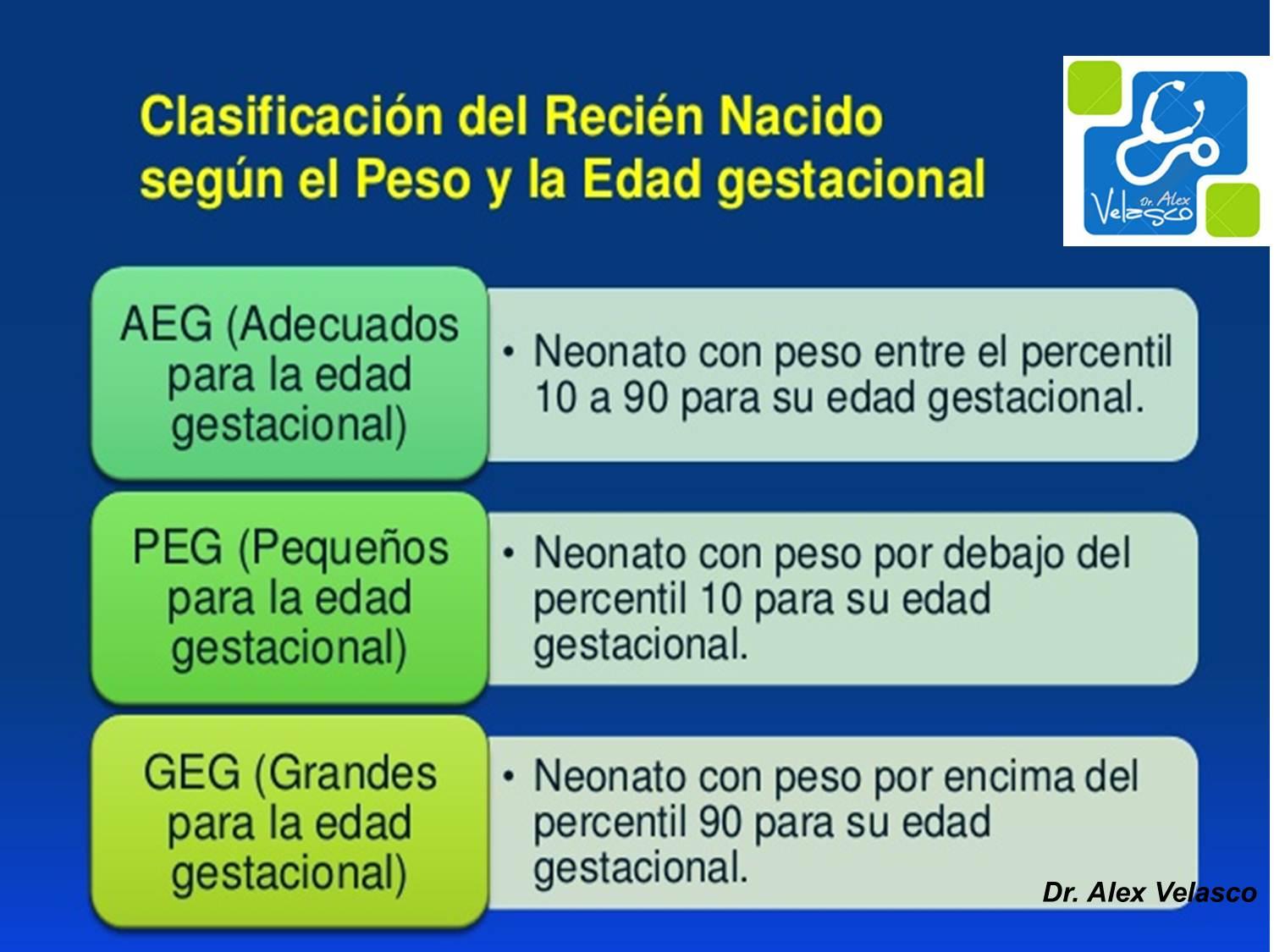 ESCALAS DE VALORACIÓN DEL RECIÉN NACIDO ~ Dr. Alex Velasco