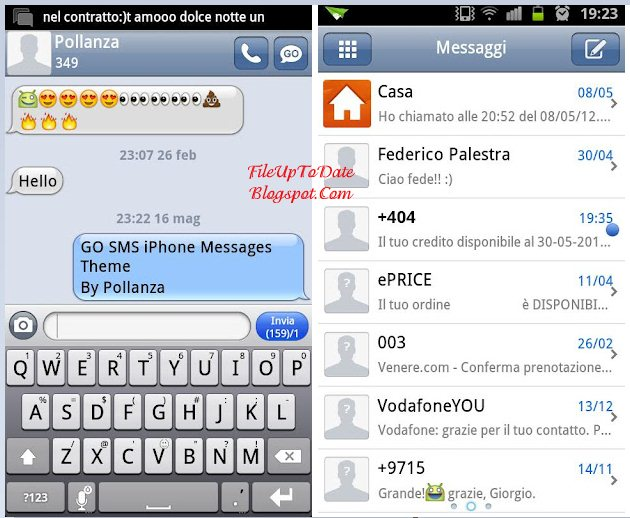 iphone message theme go sms iphone messages theme 2 0 apk for android 12033