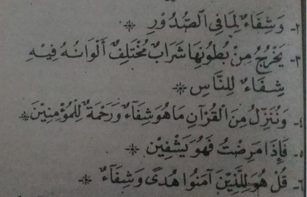 Ayat Syifa / Doa untuk Menyembuhkan Penyakit