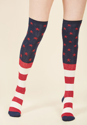 4th of July Independence Day Knee Highs Socks