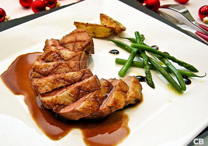 Recept Gebraden eendenborst met een port-frambozensaus