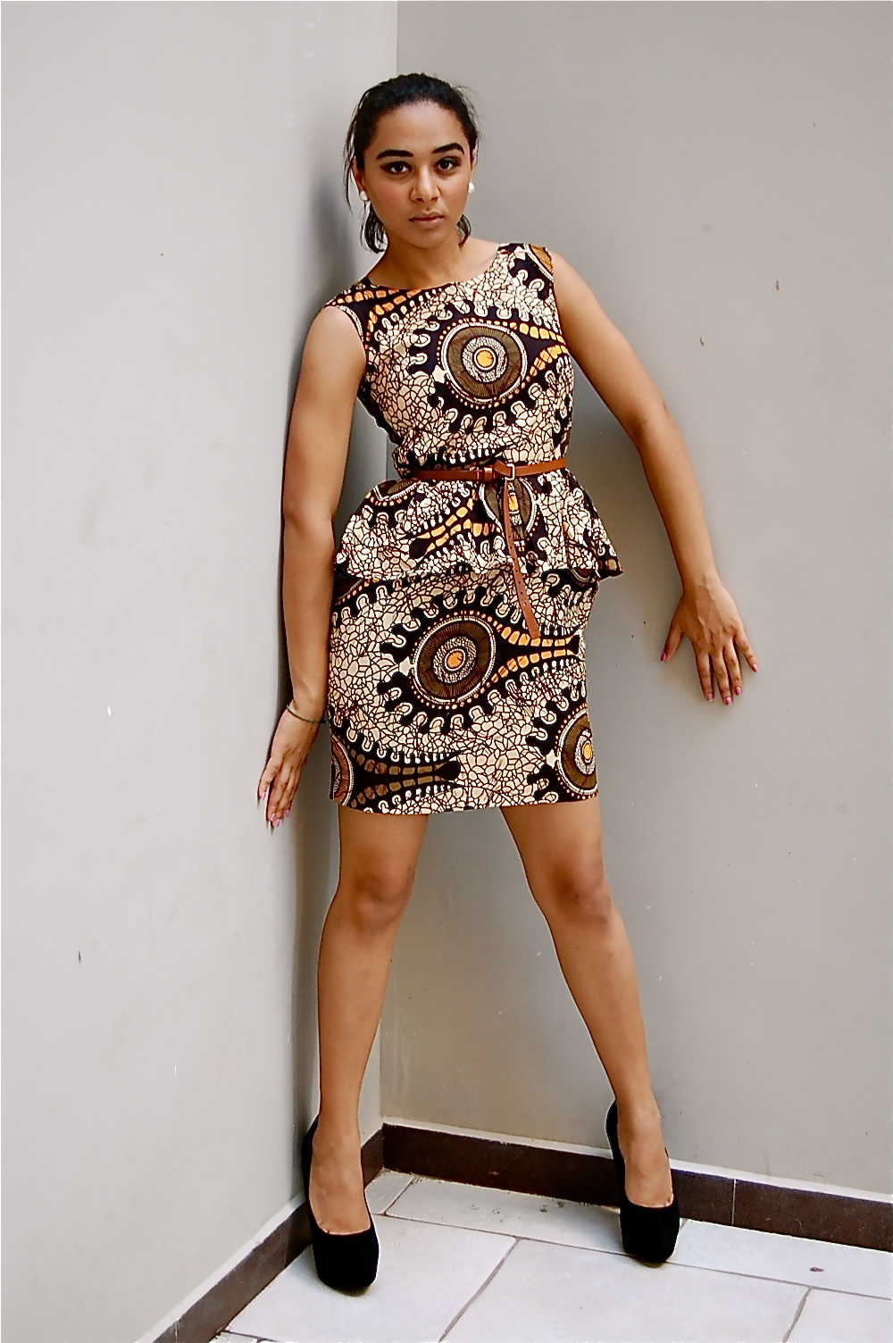 Kiki's Fashion: Peplum Kitenge Dress Designed By Kiki