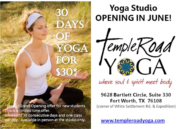30 days of yoga for $30 at Temple Road Yoga in Fort Worth