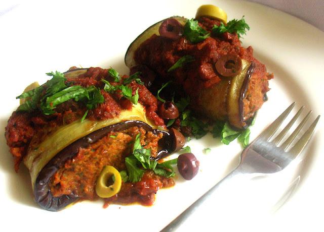 Grilled Eggplant Involtini