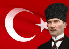 Atatürk ve Bayrak Gifi