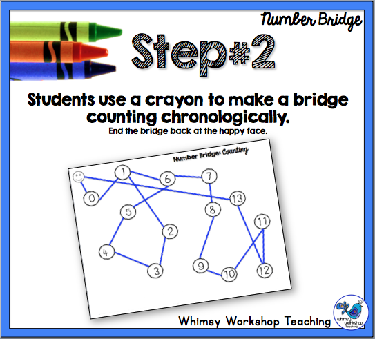 Number Bridge - a No Prep game for math or literacy skills that is easily differentiated each time you play