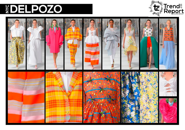 Spring/Summer 2017, Runway collections, fashion trend, favourite designers,New York fashion week, Delpozo, Textile candy, www.textilecandy.blogspot.co.uk, bright colours