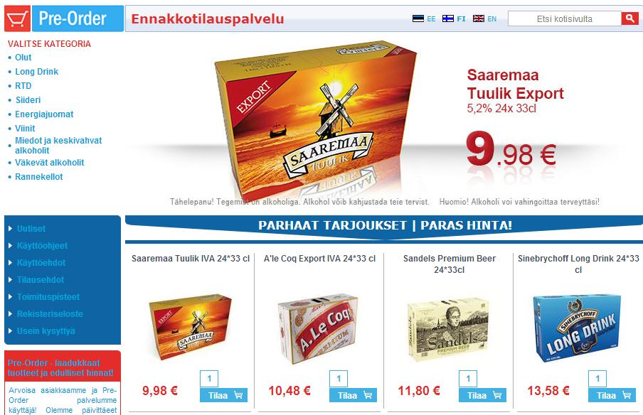 Tallink Pre-Orderin epävirallinen hinnasto päivitetty! - Tallinna Tutuksi