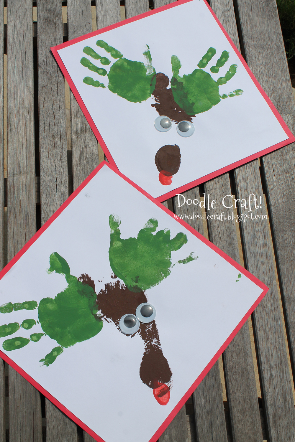 Doodlecraft Christmas In July Reindeer Prints