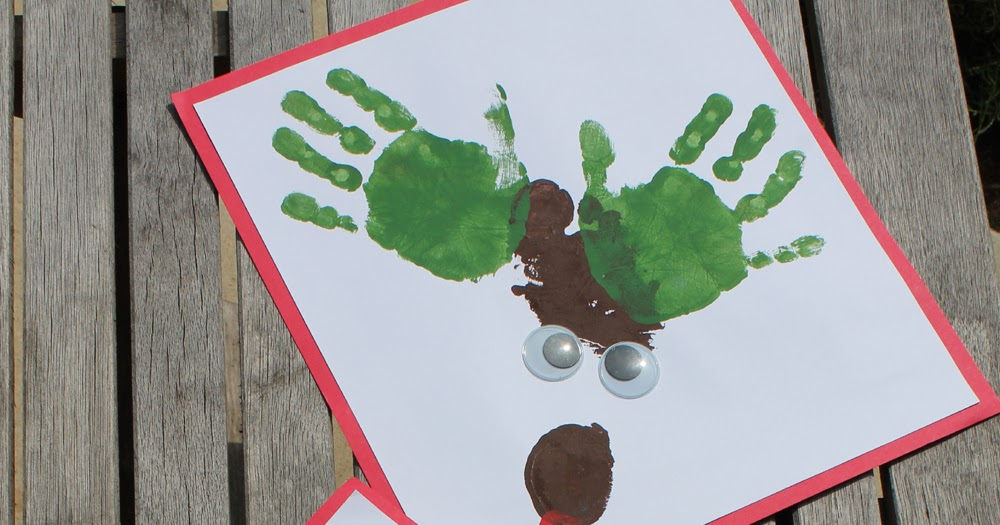 Nose Foot Antlers Thumbprint And Reindeer