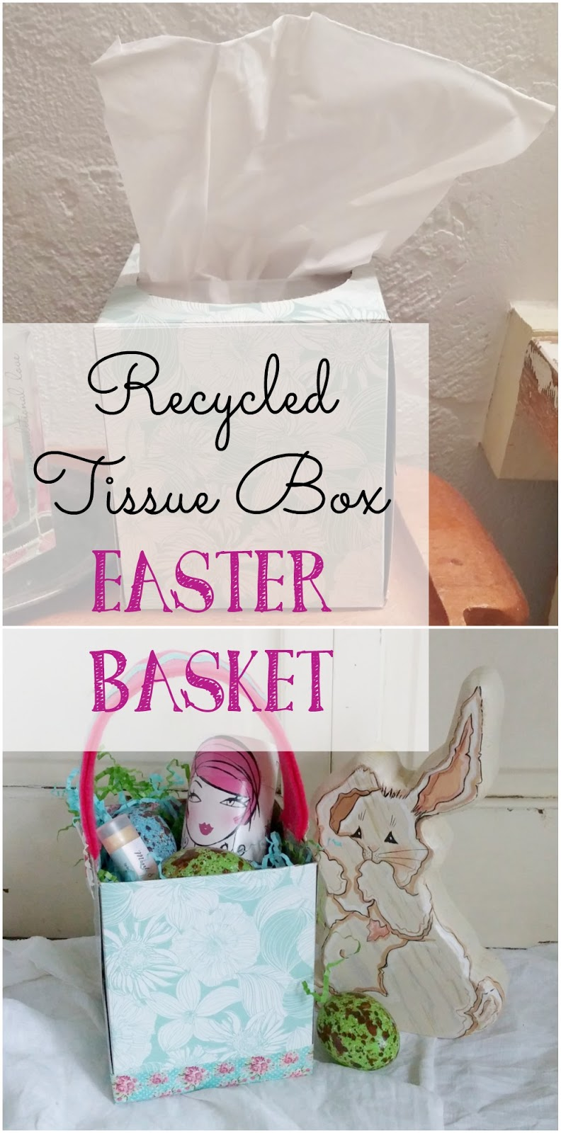 How to make an Easter basket from a recycled tissue box