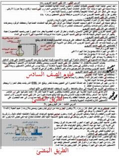 مذكرة شرح علوم الصف السادس الترم الاول | مذكرة النحبة فى العلوم للاستاذ عبد الرازق العربي
