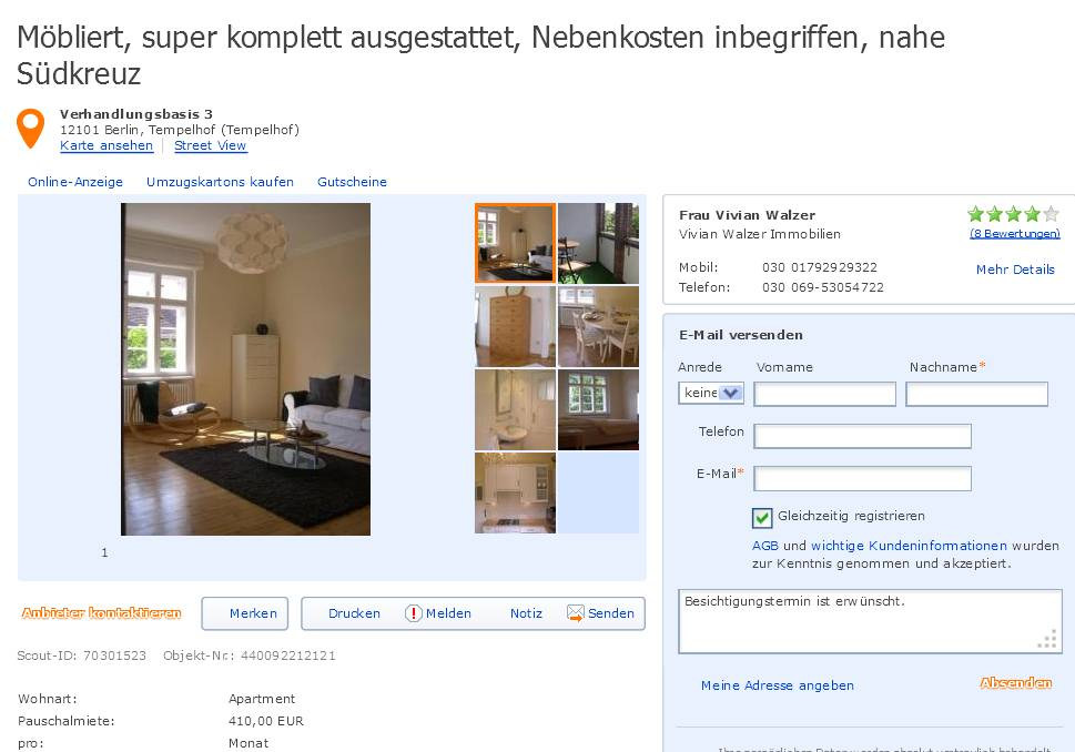 brigitmid im gehackten makleraccount bei immobilienscout. Black Bedroom Furniture Sets. Home Design Ideas