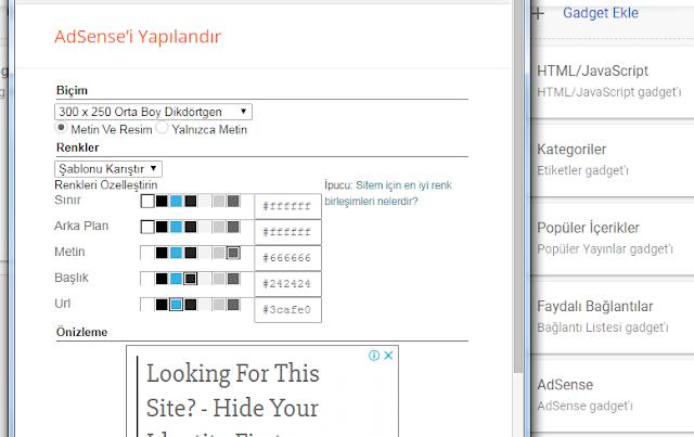 AdSense widget