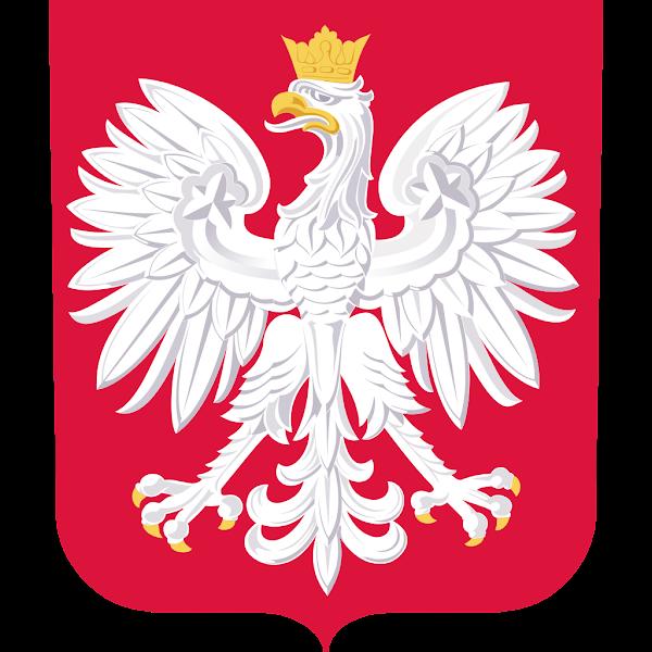 Logo Gambar Lambang Simbol Negara Polandia PNG JPG ukuran 600 px