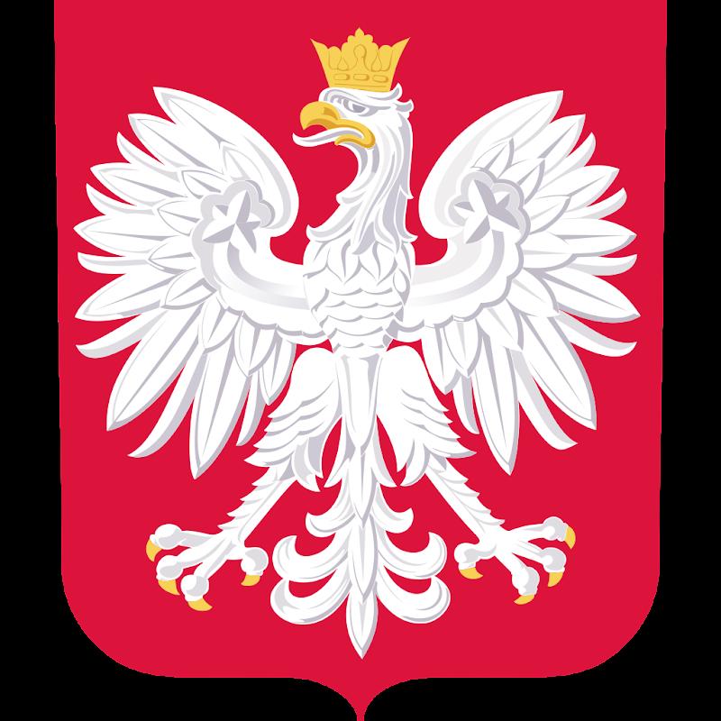 Logo Gambar Lambang Simbol Negara Polandia PNG JPG ukuran 800 px