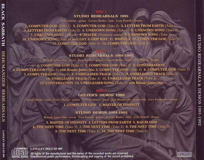 Rock Anthology: Black Sabbath - Dehumanizer Rehearsals (1991-1992) FLAC