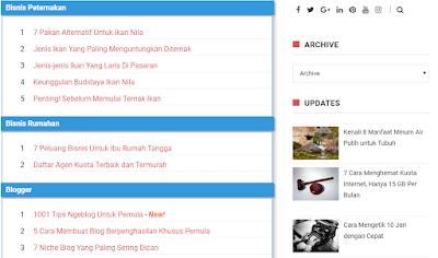 cara mudah memasang sitemap di blogspot
