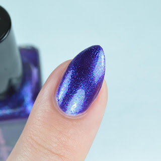 purple blue flake nail polish