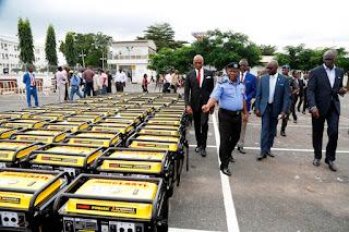 Ambode donates 120 5KVA generating sets to power police formations (photos)