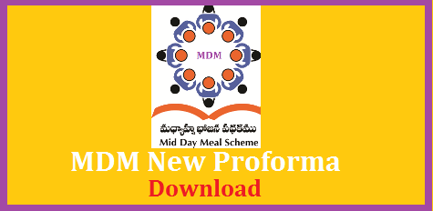 MDM Mid Day Meal New Proforma PDF and  Word File Editable Download Here Mid Day Meals to Primary Upper Primary and High Schools new Proforma Download Here | Free PDF Download For Mid Day Meals Monthly Report Submission by Headmasters in Telangana and AP. Central Govt has introduced new MDM form for Submission by HMs mdm-mid-day-meal-new-proforma-pdf-and-word-file-editable-download