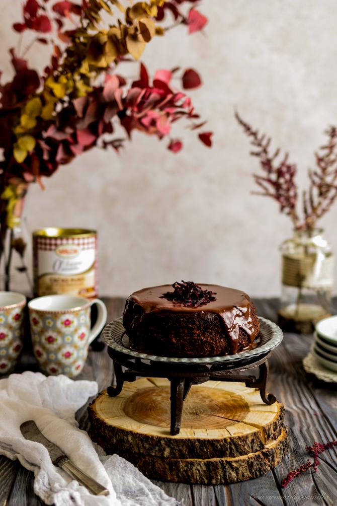 Tarta de chocolate y remolacha sin harina