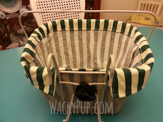 Sew Your Own Bicycle Basket Liner for Your Pet - This site is full of GREAT DIY Tutorials by WackyPup