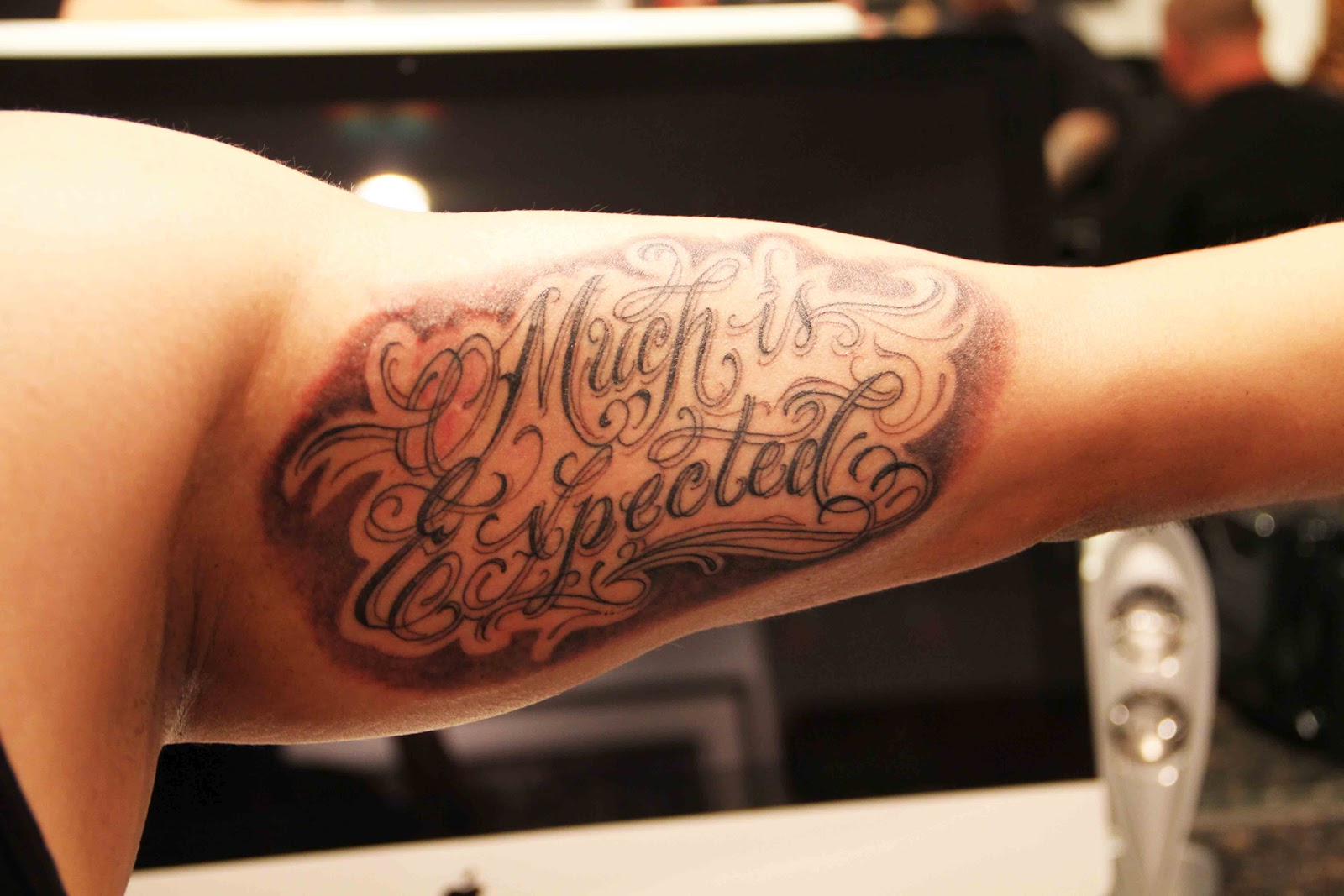 Tattoo Of The Tattoos: TO WHOM MUCH IS GIVEN MUCH IS EXPECTED